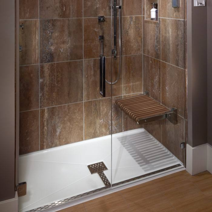 Alcove Center Drain Shower Base with T Drain