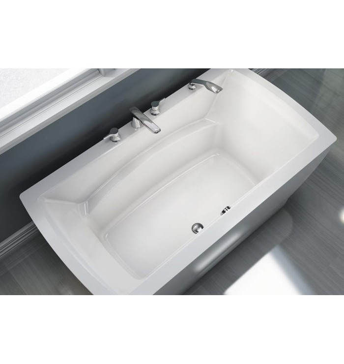 freestanding tub with faucet holes. Believe freestanding tub top view  soaking bathtub Neptune Freestanding Tubs 6636 7236