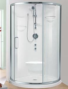 Round Shower shown with Nice Door