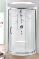 Neo Round Corner Shower with Footrest