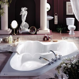 Sculpted Corner Tub Designed for Two