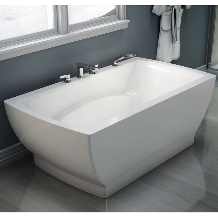 Freestanding Rectangle Tub  Center Drain Armrests Neptune Believe Tubs 6636 7236