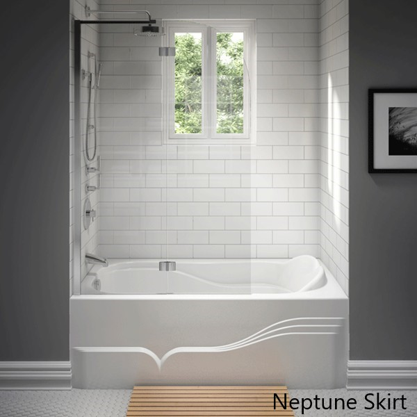 Raised Backrest, Rectangle Bath with Integral Front Skirt