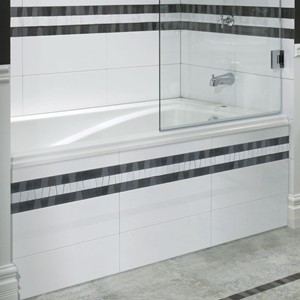 Rectangle Bath With Tile Front Skirt ...