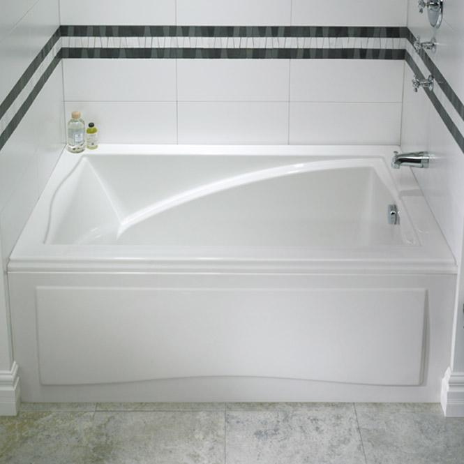 Delightful Rectangle Bath With Removable Front Apron
