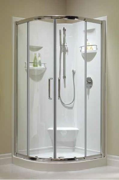 One Piece Corner Shower