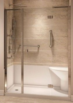 Modern Shower Base With Seat