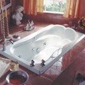 Rectangle Bath with Elegant Raised Back