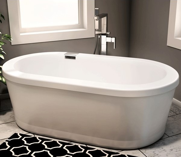 Free Standing Jetted Tub Whirlpool Tub Jacuzzi Bathtub - Free standing jetted soaking tub