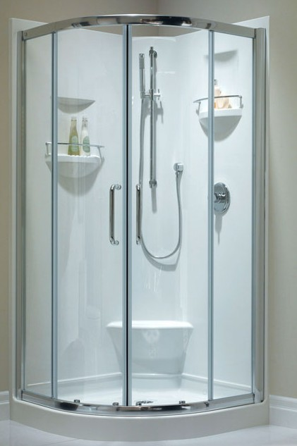 Corner Shower With Round Front, Zurich Door
