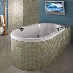 Incroyable Oval Bath, Modern Rim