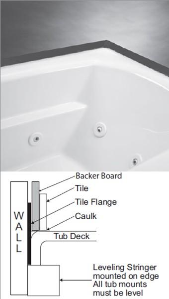 Tiling Around A Bath >> Alcove Tub | Bathtub with Skirt & Flange for 3 Wall Alcove