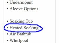 Heated Soaking Bathtub Listing