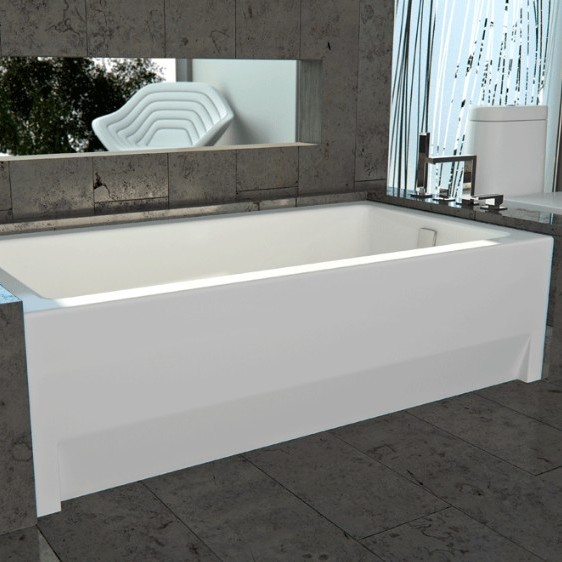 Alcove tub bathtub with skirt flange for 3 wall alcove for What is the best bathtub