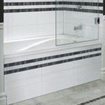 Rectangle Bath with Tile Front Skirt
