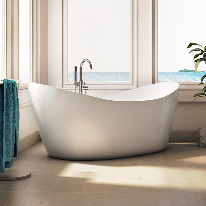 Oval Freestanding Bath with 2 Raised Backrests