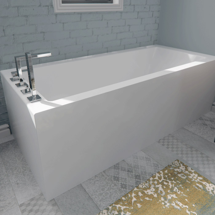 Alcove Flory De Colt Corner Bathtub | Air or Soaking