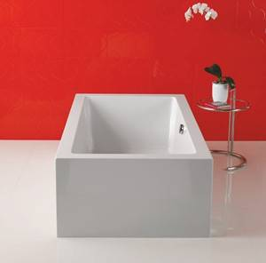 Rectangle Freestanding Tub with Center Drain