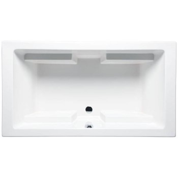 Lana Rectangle Tub with 4 Armrests, Center - Side Drain & 2 Backrests