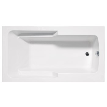 Madison Rectangle Tub with Armrests and End Drain
