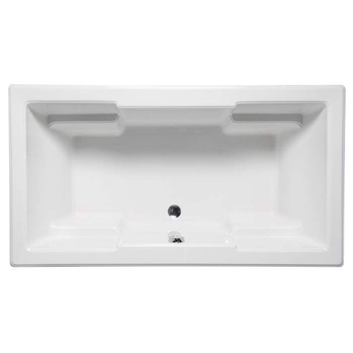 Quantum Rectangle Tub With Armrests And Center Drain