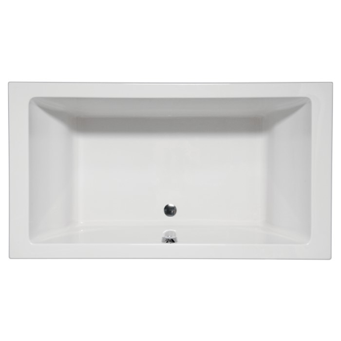 Vivo Rectangle Tub With Center Drain