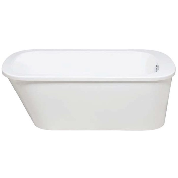 Oval Floor Standing Tub with Wide Rim
