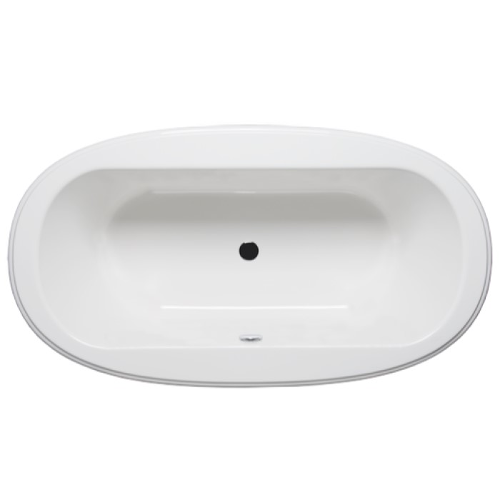 Top View, Oval Bathtub With Center Drain Americh Bliss Sale