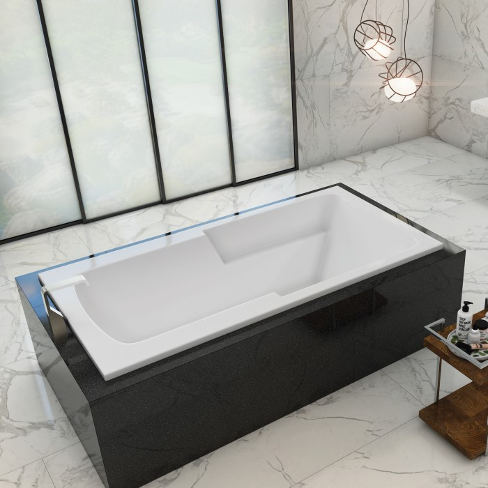 Madison Installed as a Drop-in Soaking Tub in a Freestanding Surround