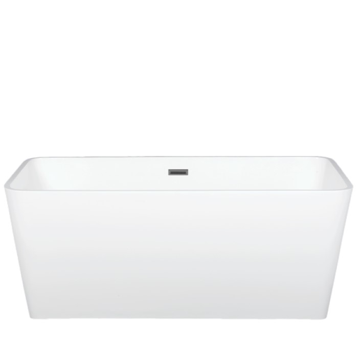 Rectangle Freestanding Tub with Straight Rim, Rounded Corners