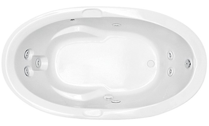7 Jet Oval Whirlpool with Armrests