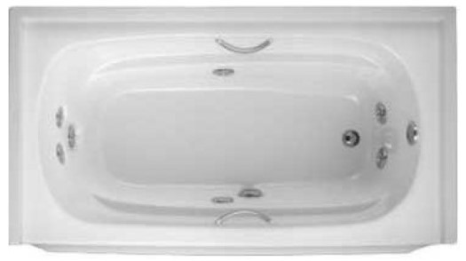 Rectangle 7 Jet Whirlpool with Oval Bathing Well