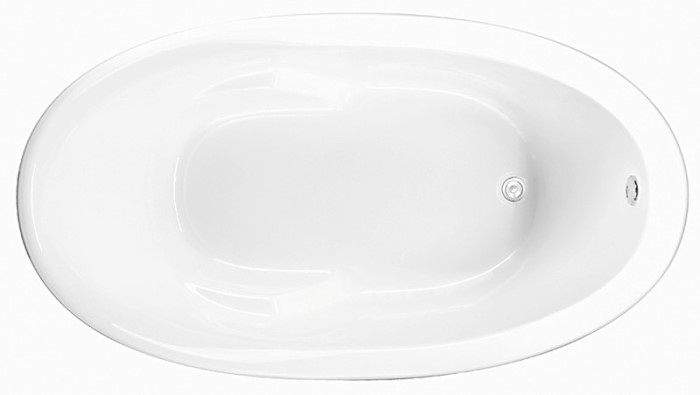 Oval Tub with Armrests, End Drain