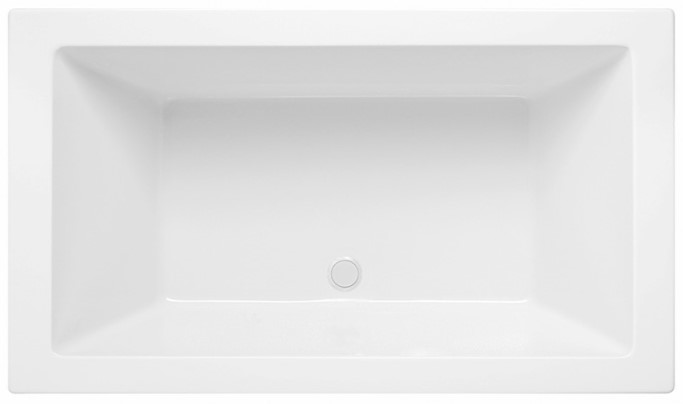 Modern Rectangle Tub, 2 Backrests