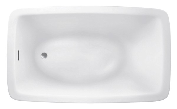 Attractive Rectangle Bathtub With Oval Bathing Area