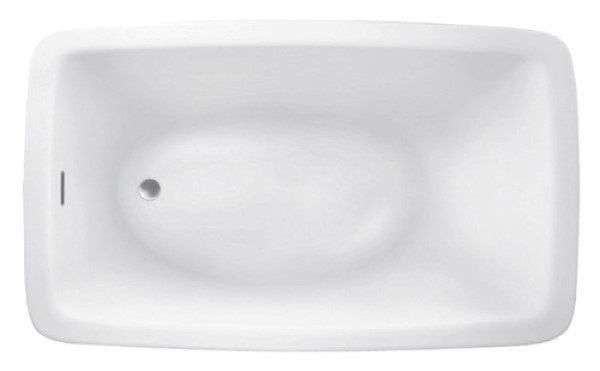 Rectangle Bathtub with Oval Bathing Area