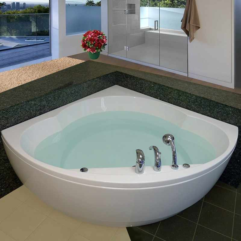 Aquatica Cleopatra Bath | Corner Skirted Soaking Tub
