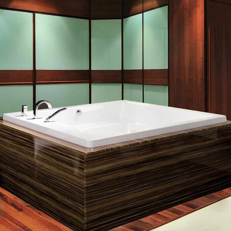 Aquatica Lacus Square Soaking Tub