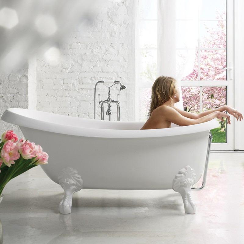 Aquatica Nostalgia Slipper Freestanding Bathtub