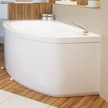 Right Corner Tub, Wide at Backrest, Narrow at Foot
