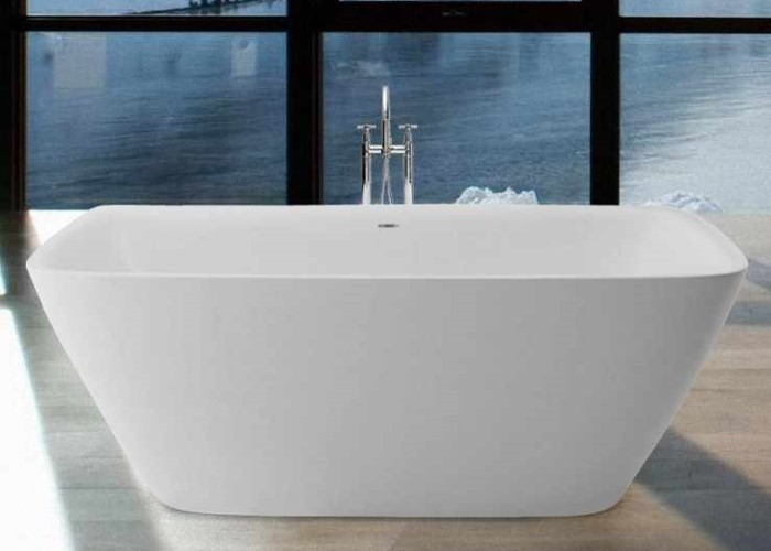 Rectangle Tub with Angled Sides, Slotted Overflow