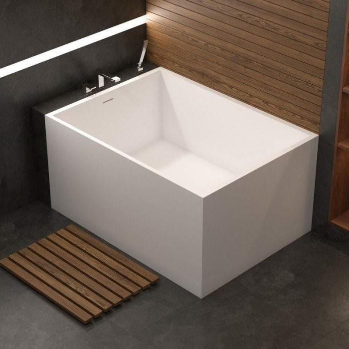 White Rectangle Corner Bath with Slotted Overflow