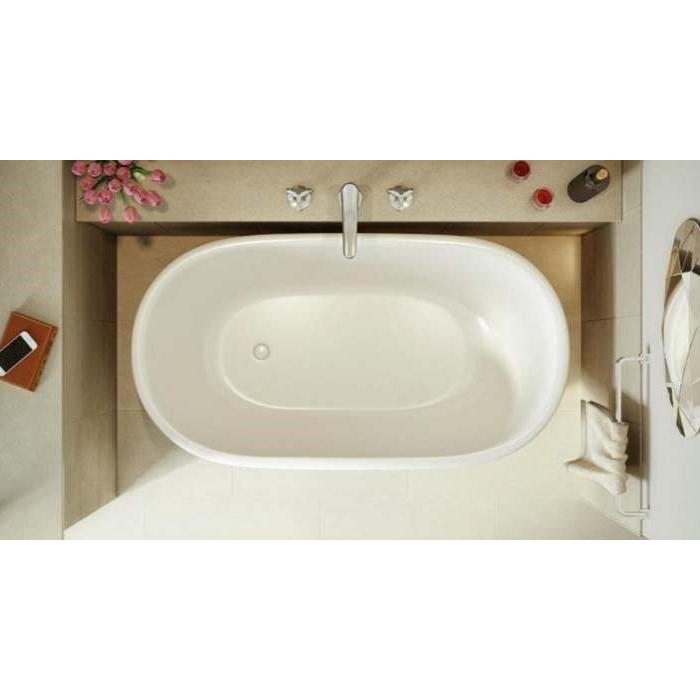 End Drain Freestanding Tub. Oval Bath with End Drain Aquatica Lullaby Nano Solid Surface Freestanding Bathtub