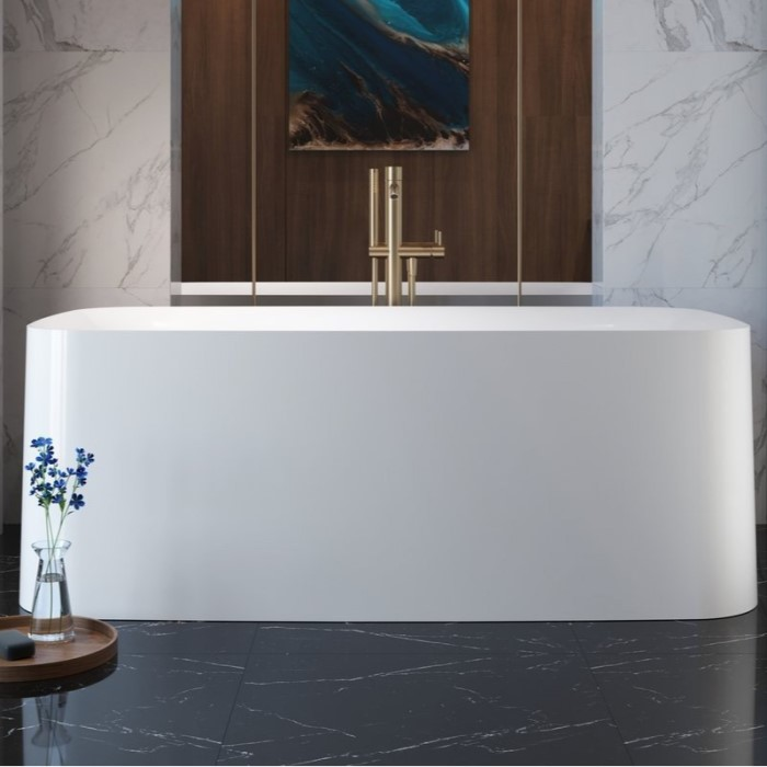 Rectangle Freestanding Tub in White