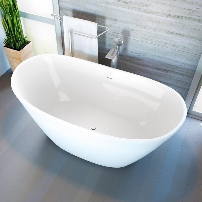 Glossy White Freestanding Slipper Bath
