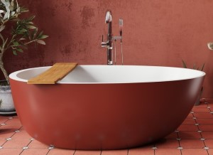 Oxide Red on Tub Skirt