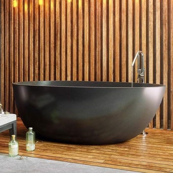 Oval Freestanding Bath Shown in Matte Black