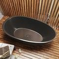All Black, Oval Freestanding Bath