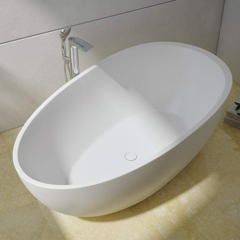 Modern Freestanding Tub with Curved Sides