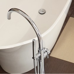 Opera Floor Mount Tub Filler Faucet in Chrome
